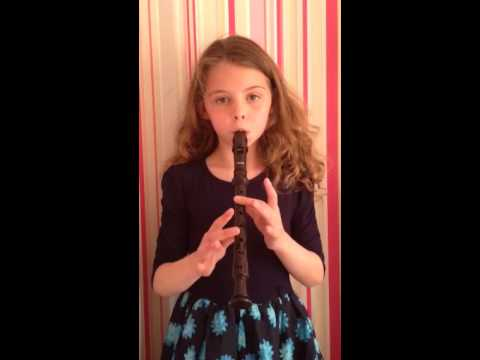 Let it go. Frozen song played on the recorder.