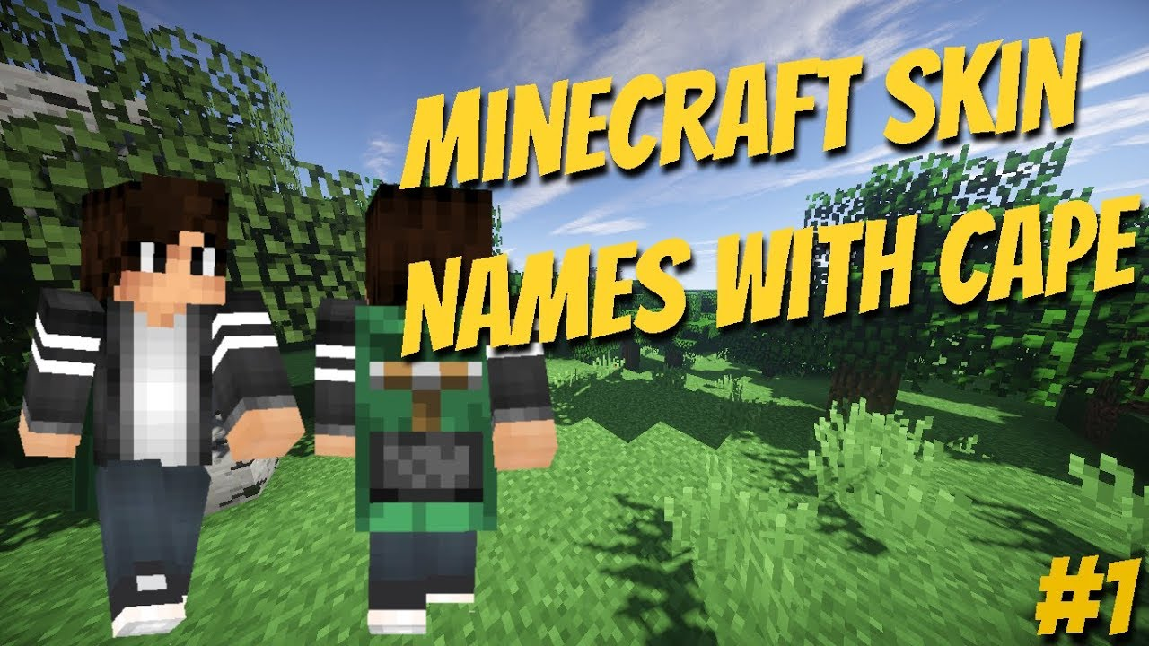 Minecraft Skin Names  Skins With Cape #8 - YouTube