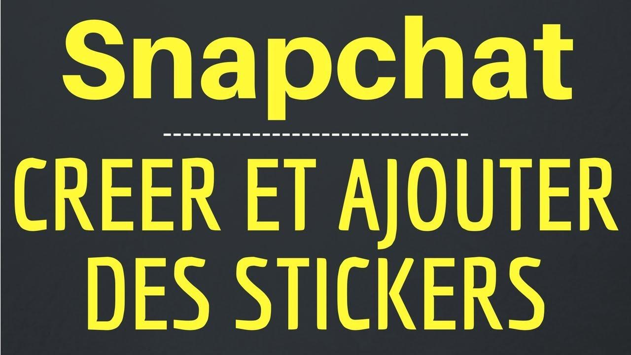 faire des stickers sur snapchat comment utiliser les stickers sur snapchat youtube. Black Bedroom Furniture Sets. Home Design Ideas