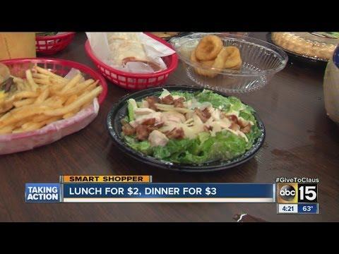 Lunch For $2, Dinner For $3