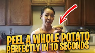 How to Peel a Potato Without a Peeler