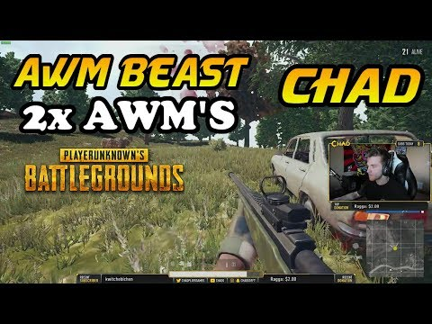 AWM BEAST - CHAD PLAYS WITH 2x AWM'S   PLAYERUNKNOWN'S BATTLEGROUNDS (3/25/18)