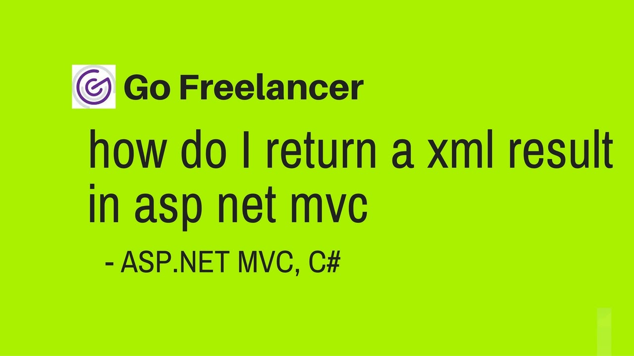 how do I return a xml result in asp net mvc
