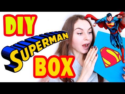 DIY Подарки для НЕГО * SUPERMAN BOX * Подарок СУПЕРГЕРОЯ * Bubenitta