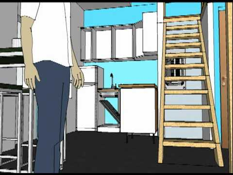 maison sur sketchup 8 youtube. Black Bedroom Furniture Sets. Home Design Ideas