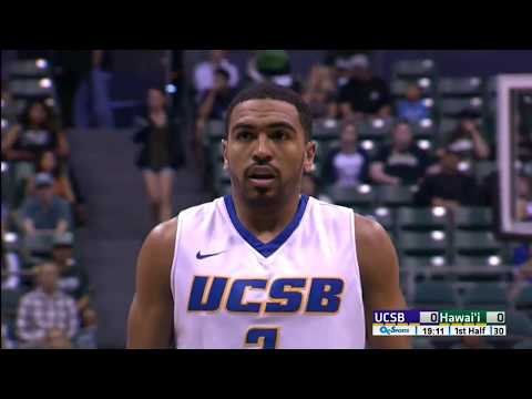 UCSB vs Hawaii NCAA men's basketball 2017 01 28 Full HD