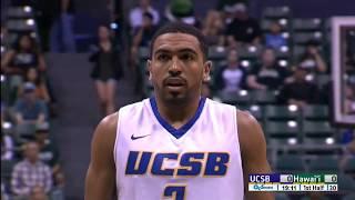 UCSB vs Hawaii NCAA men's basketball 2017 01 28 Full HD