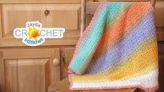 Pixie Baby Blanket using Lion Brand Mandala Yarn - Crochet Pattern & Tutorial