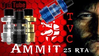 AMMIT 25 RTA By Geekvape Review And Build On TVC My Favorite Single Coil RTA