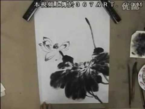 Lotus Chinese Painting in Spontaneous Style 2/6