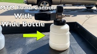 MTM Foam Cannon with Wide Bottle (Bottle Replacement)