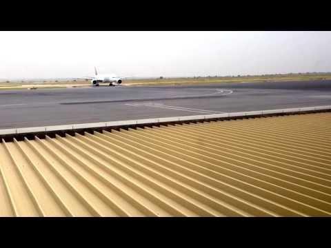 Emirates B 777-300ER Today in Luanda airport