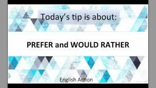 Diferencia entre Prefer y Would Rather | English Action