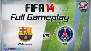 FIFA 14 Full Gameplay and Player Stats - Barcelona vs PSG