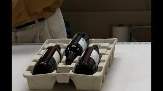 Wine: 3 bottle pulp shipper