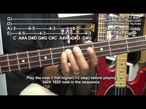 How To Play Amazingly Easy 1625 Jazz Walking Bass Guitar Jazz Lines & Riffs EricBlackmonGuitar