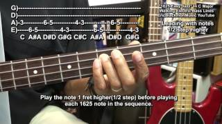 how to play amazingly easy 1625 jazz walking bass guitar jazz lines riffs ericblackmonguitar