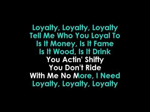 Loyalty Karaoke Kendrick Lamar ft Rihanna