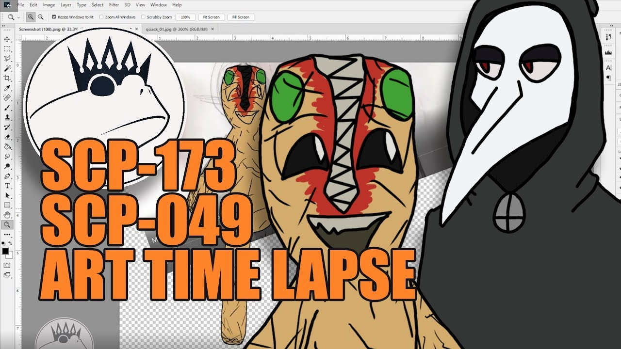 Scp 173 And 049 Animation Puppet Art Time Lapse With Toadking07