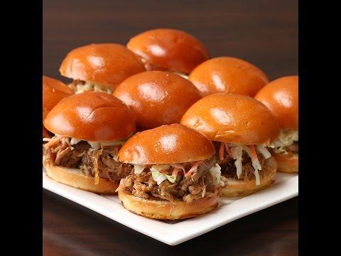slow-cooker-honey-garlic-pork-sliders