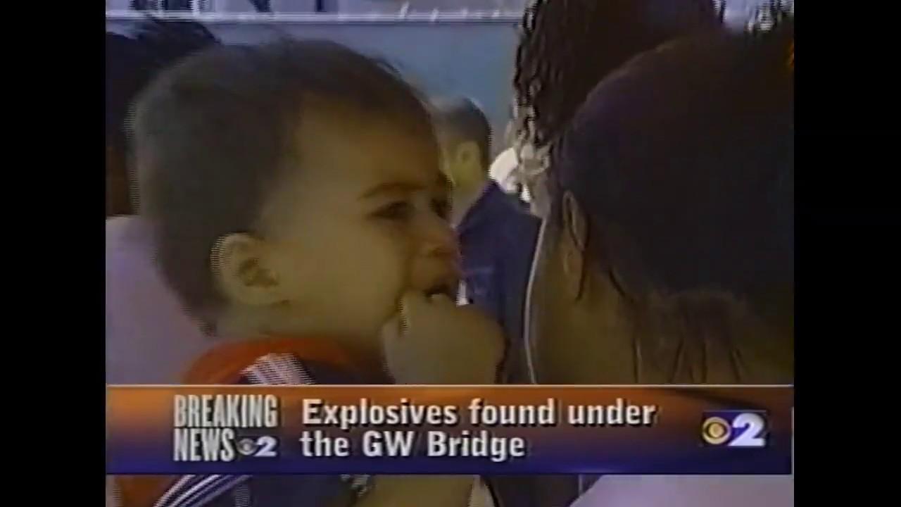 9/11 Live News.Explosives Found Under GW Bridge.11Sept2001.4:15 PM