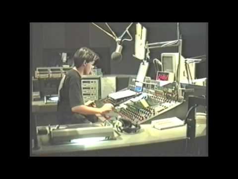 Inside the Capital FM studio, April 1992