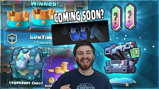 FREE LEGENDARY CHEST & LEGENDARY KINGS CHEST OPENING! | Clash Royale | NEW CARD CHALLENGE SOON!?