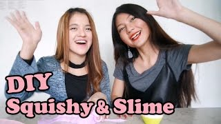 DIY How To Make Squishy & Slime with Ria Yaya Riya
