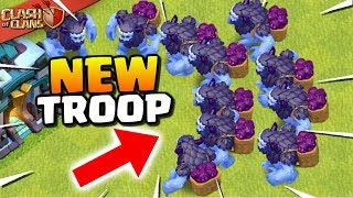 "FUN ""NEW YETI TROOP"" in CLASH OF CLANS! Yeti Gameplay from TH13 Winter Update!"