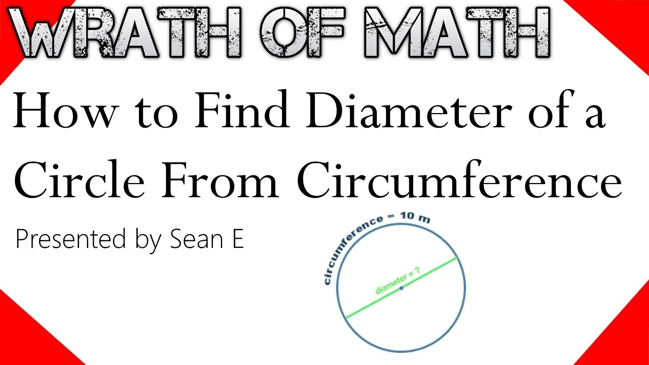 how to find the diameter of a circle from circumference youtube