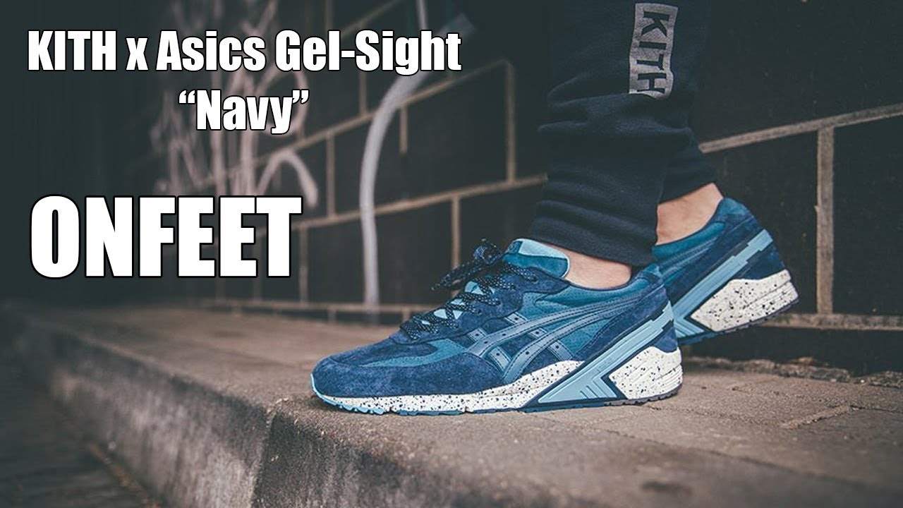 buy popular 38295 80731 KITH x Asics Gel-Sight (H50CK-5042) Onfeet Review | sneakers.by