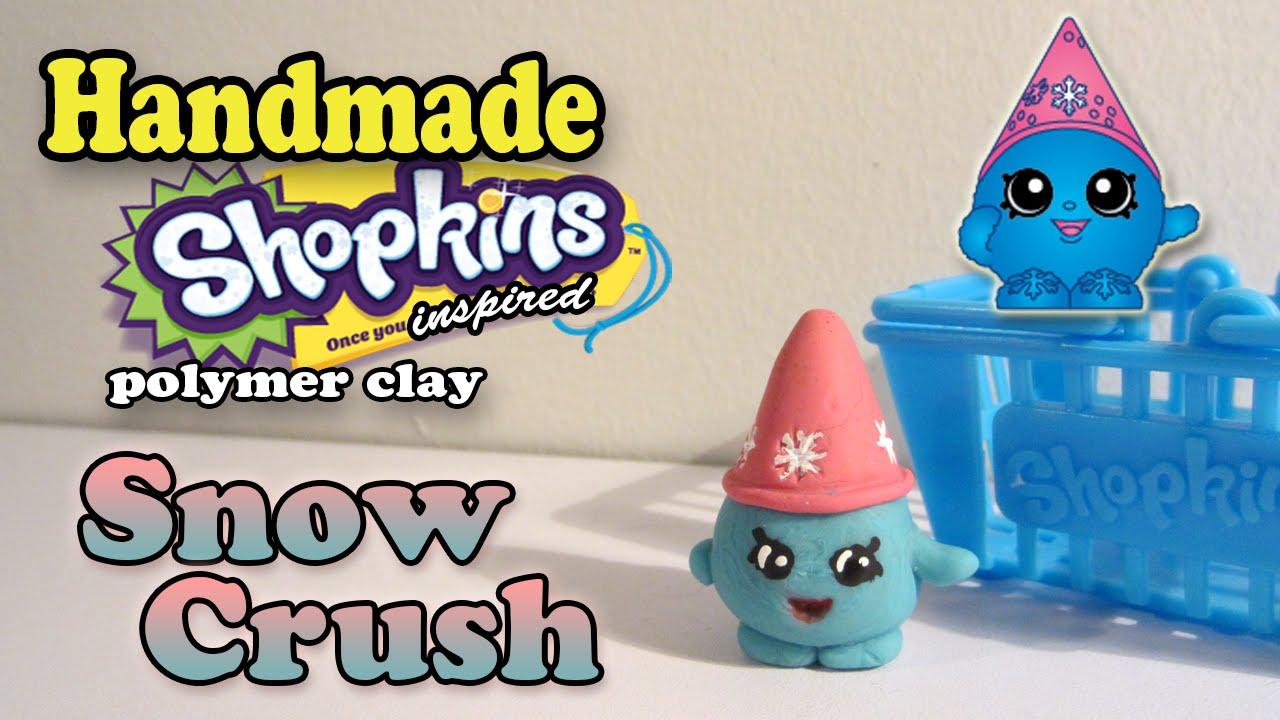 Season 1 Shopkins How To Make Snow Crush Polymer Clay Tutorial
