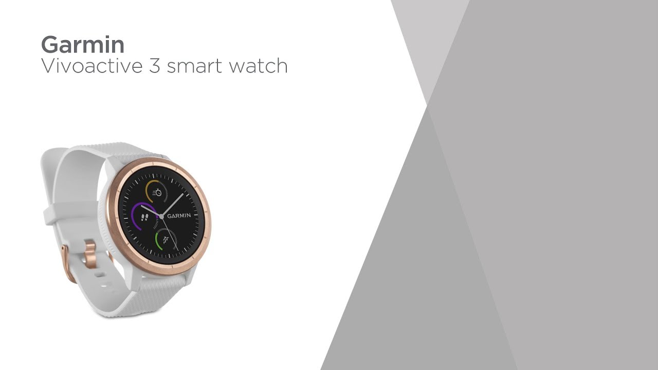 Garmin Vivoactive 3 White Rose Gold Product Overview Currys Pc World