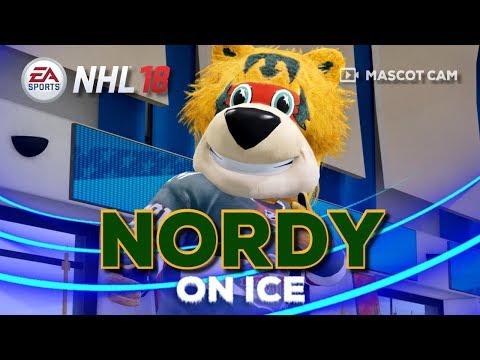 NHL 18 Mascot Cam on Ice | Nordy (Minnesota Wild)