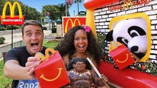 Moana & Maui Visit McDonalds Drive Thru ! || Toy Review || Konas2002