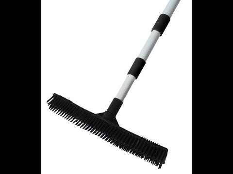 Don Aslett S Rubber Broom W Indoor And Outdoor Hand Bru