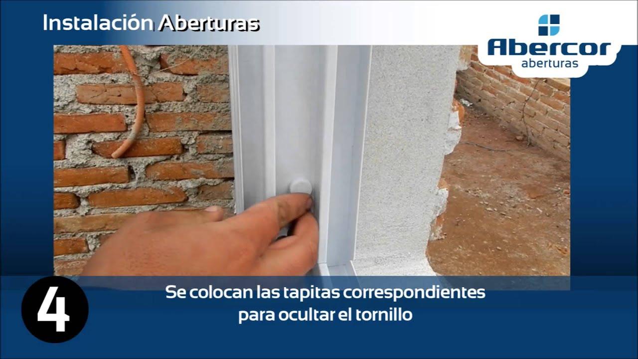 instalación abertura de aluminio sobre premarco - YouTube