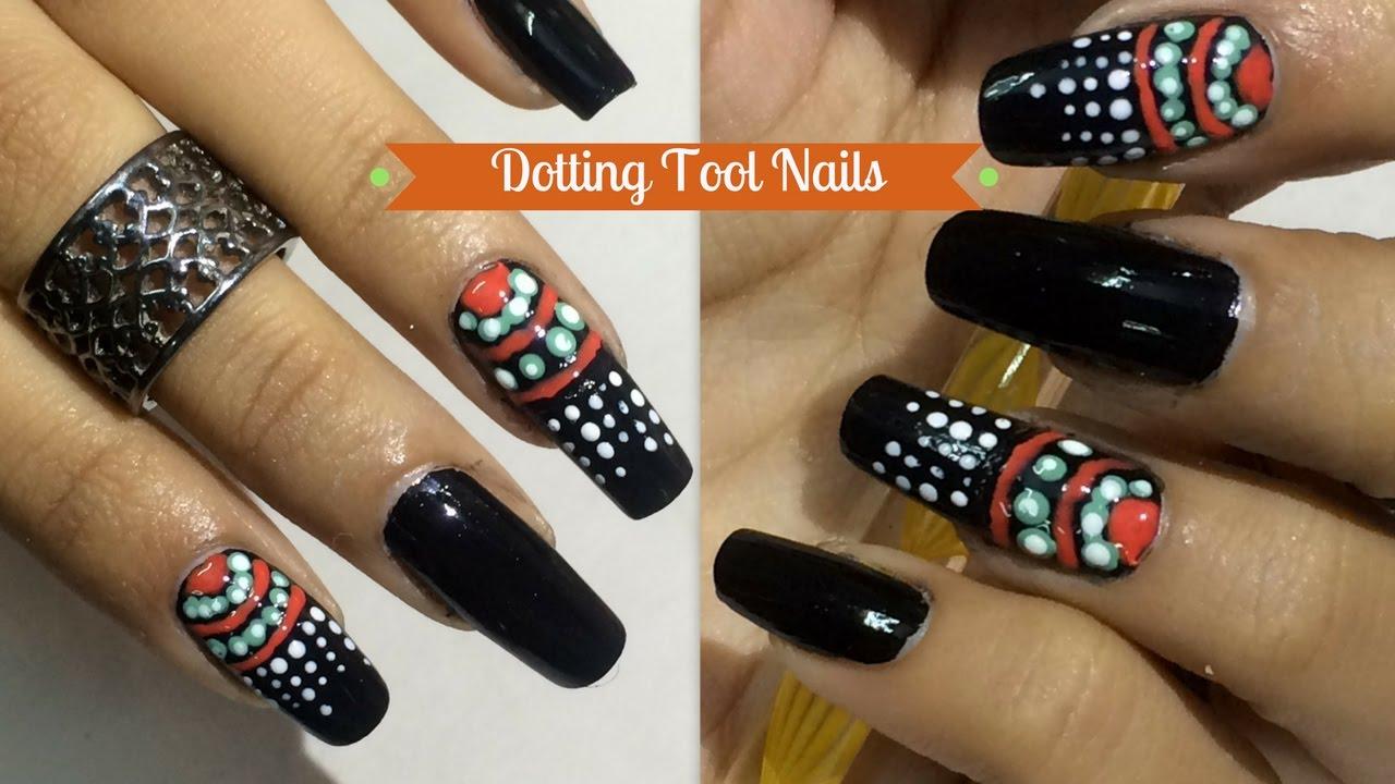 Nail art using Dotting Tool I Lazy girl\'s Nails I Beginners Easy ...