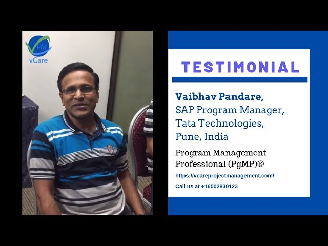 Vaibhav Pandare | SAP Program Manager | Tata Technologies | Pune, India | vCare Project Management