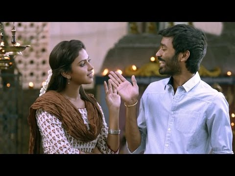 Raghuvaran B.tech Comedy Scenes - Amala Paul Asking An Apple For Her Birthday Gift - Dhanush