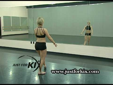 Turning Open Second Leap Dance Tutorial and Demonstration from Just For Kix
