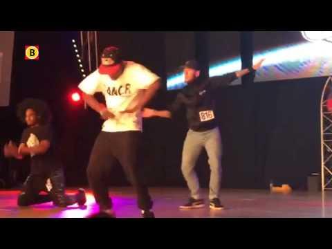 Carlton Walden in actie op het WK streetdance in Glasgow
