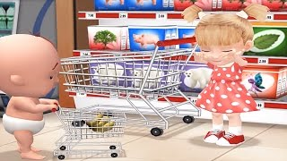 being considerate 3d baby learn to be polite in supermarket kids educational games
