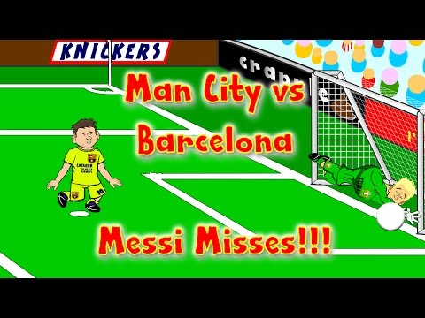 Man City vs Barcelona 1-2 CHAMPIONS LEAGUE CARTOON! by 442oons