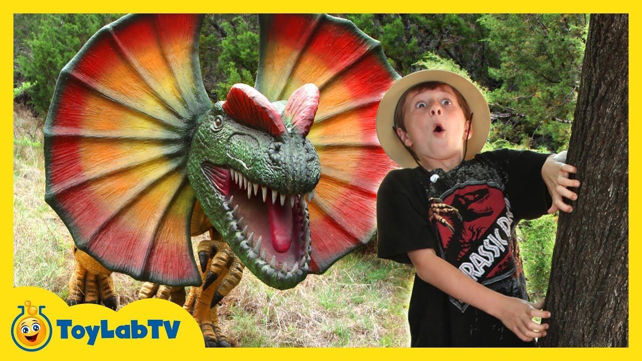 Giant Dinosaur Encounter & Jurassic Adventure with Kids Ride on ATV