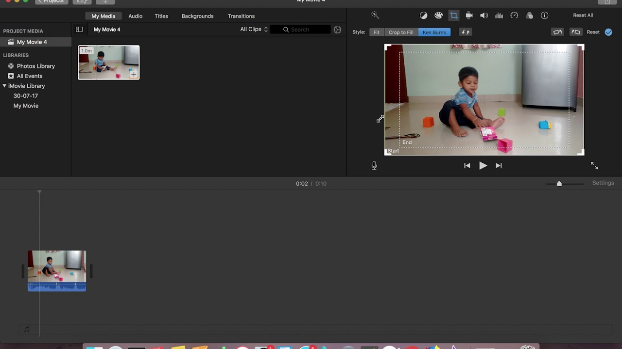 iMovie How to Create Camera Panning Effect Ken Burns - 2019