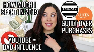 BEAUTY CONSUMER TAG! HOW MUCH I SPENT IN 2019, GUILT OVER MAKEUP & MORE