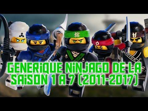 Générique Ninjago de la saison 1 à 7