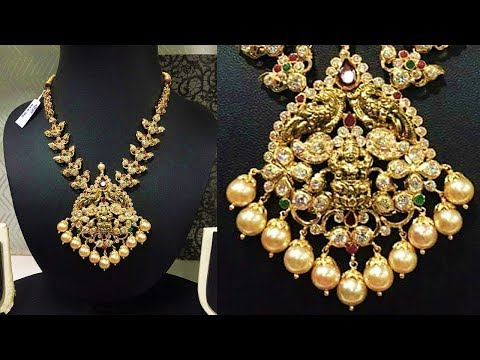 40 Grams Gold Traditional Necklace Designs