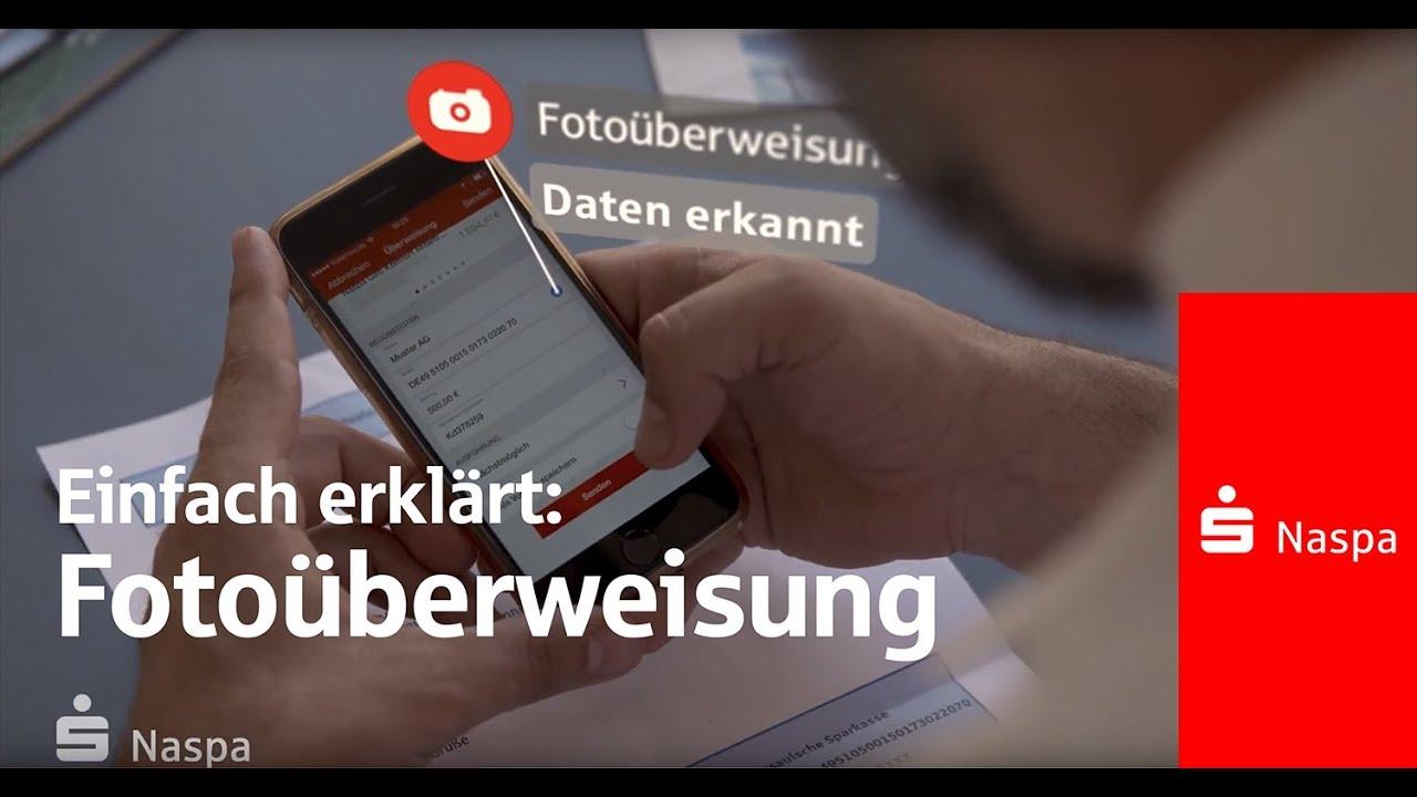Online Banking Fotouberweisung Uberweisen Von Uberall I Naspa Youtube